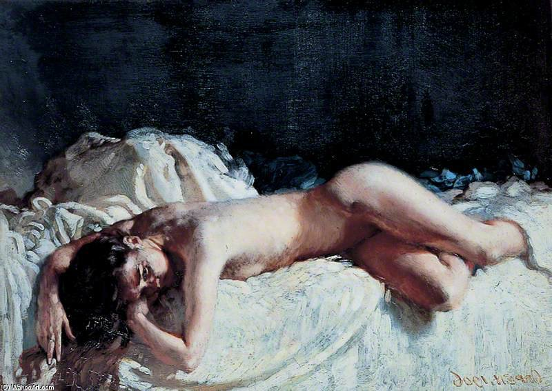 Studio Nude di William Newenham Montague Orpen (1878-1931, Ireland)