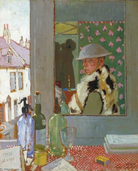 pronto per inizio  -   da sé  Ritratto  di William Newenham Montague Orpen (1878-1931, Ireland)