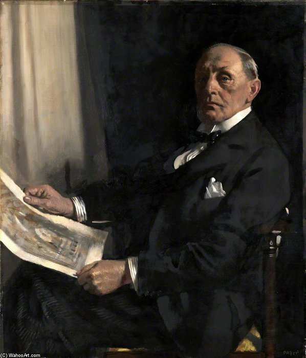Sir Walter Tapper di William Newenham Montague Orpen (1878-1931, Ireland)