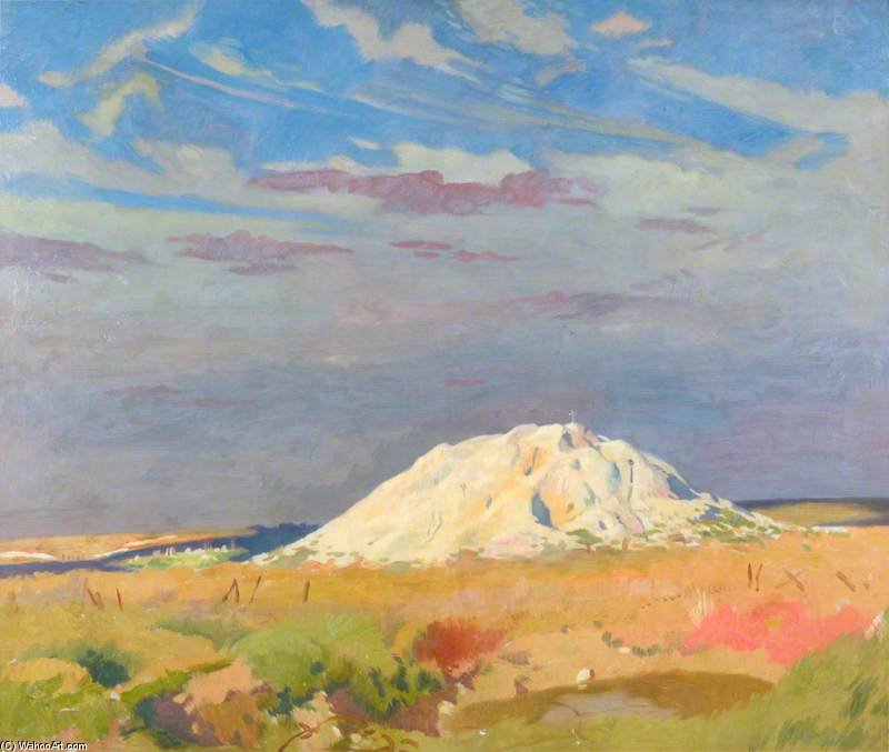 la butte de warlencourt di William Newenham Montague Orpen (1878-1931, Ireland)