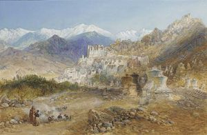 William Simpson - Leh, la capitale del Tibet