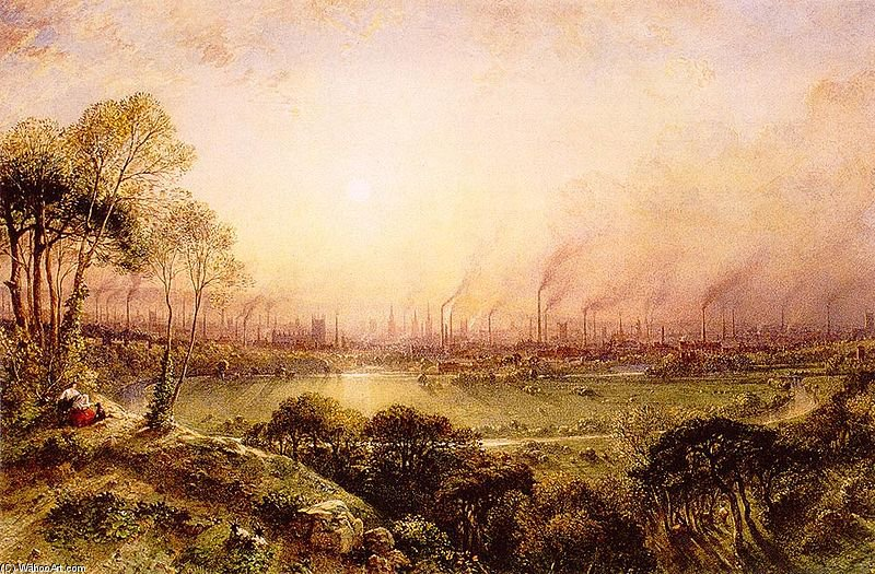 manchester da kersal ormeggiare  di William Wyld (1806-1889, United Kingdom)