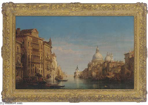 sul gran canale Venezia  di William Wyld (1806-1889, United Kingdom)