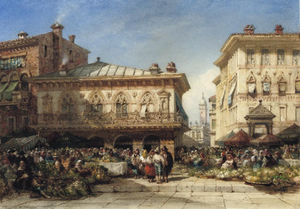 William Wyld - veduta di Verona , L'italia
