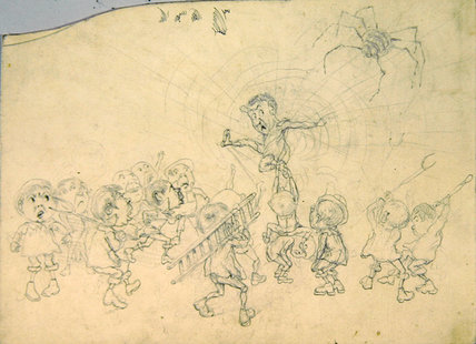 sketch book per l 'child's Dream' - ( 16 ) di Keeley Halswelle (1832-1891, United Kingdom) | WahooArt.com