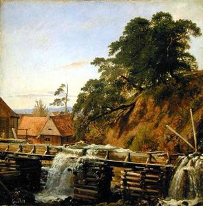 Louis Gurlitt - Un mulino ad acqua in Christiania