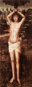 Master Of The Saint Lucy Legend - san sebastiano