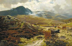 Henry Hadfield Cubley - Highland Drovers Riposo