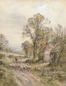 Henry John Kinnaird - Un vicolo Sussex; A Country Lane, Perth