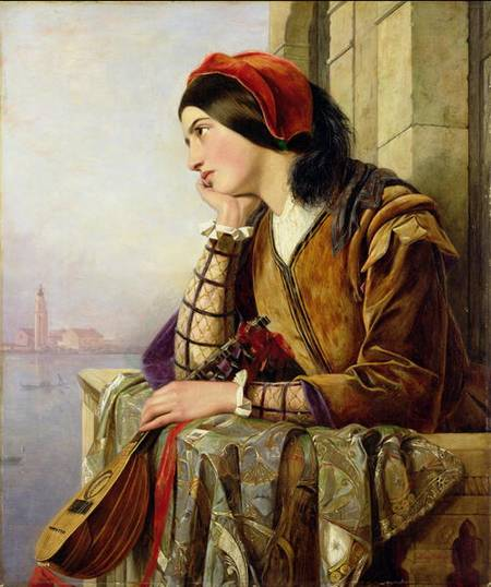 donna amore  di Henry Nelson O'neil (1817-1880, Russia)