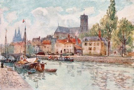 Soissons di Herbert Menzies Marshall (1841-1913, United Kingdom)