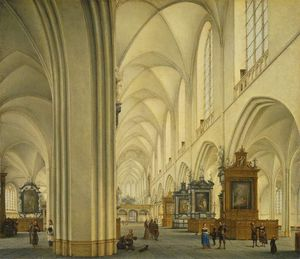 Isaak Nickelen - Interni Of Antwerp Cattedrale