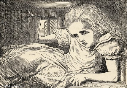 Alice Cresce troppo alta per l Camera di John Tenniel (1820-1914, United Kingdom)