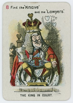 il re contro  corte  di John Tenniel (1820-1914, United Kingdom)