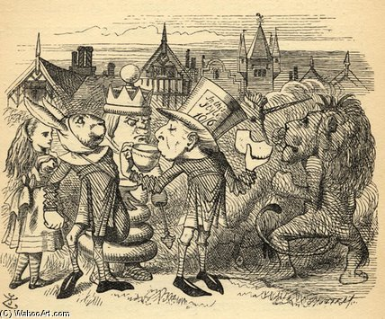 The Mad Hatter di John Tenniel (1820-1914, United Kingdom)