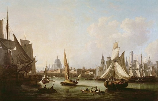 una vista di Westminster_2   di John Thomas Serres (1759-1825, United Kingdom)