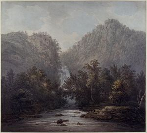 Joseph Farington - Lodore Waterfall