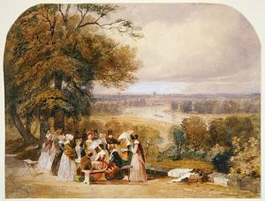 Joseph Murray Ince - un picnic su richmond Collina
