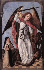 Master Of The Legend Of Saint Ursula - St Michael Demons Lottare