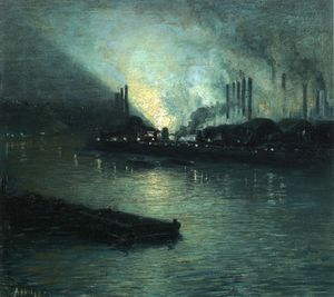 Pittsburgh Industrial Nocturne di Aaron Harry Gorson  (ordinare Belle Arti giclée Aaron Harry Gorson)