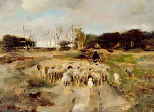 Anton Mauve - Sheep Flock
