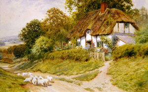 Arthur Claude Strachan - Watching The Sheep