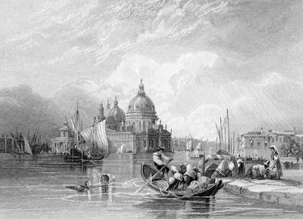 Il Canal Grande Venezia di Charles Bentley (1805-1854, United Kingdom)