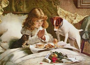 Ordinare Copia Pittura : Suspense , Manifesto di Charles Burton Barber (1845-1894, United Kingdom) | WahooArt.com