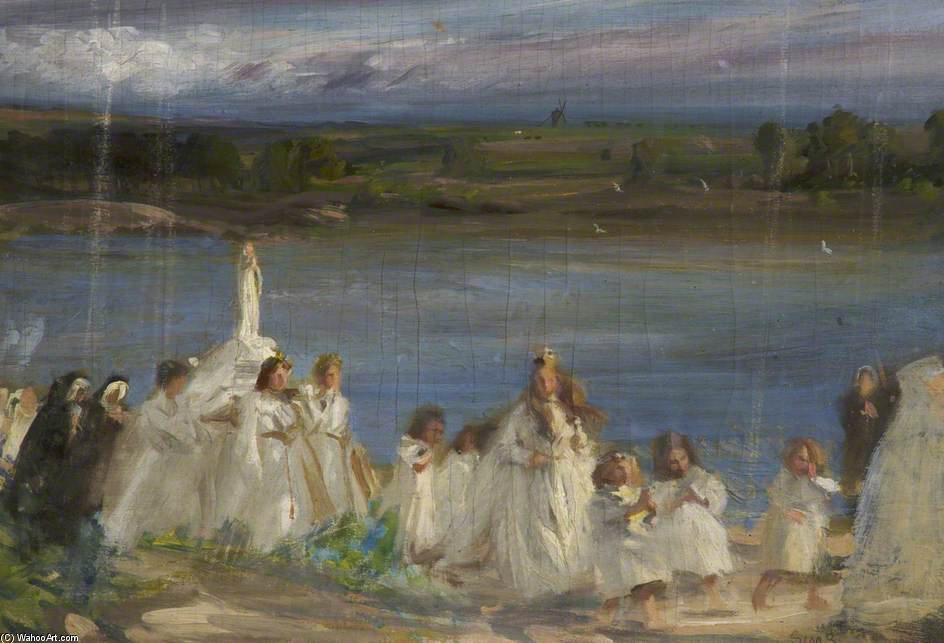 Processione di Charles Henry Sims (1873-1928, United Kingdom) | WahooArt.com