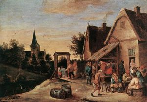 David Teniers The Elder - villaggio festa