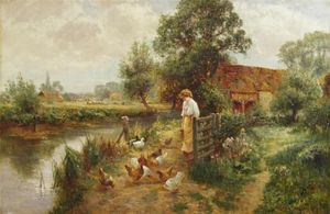 Ernest Charles Walbourn - Feeding The Duck