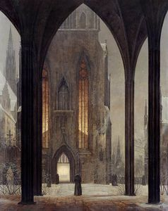Ernst Ferdinand Oehme - Cattedrale di Inverno