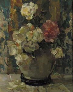 Floris Verster - Witte It rosa rozen in een lanooypot