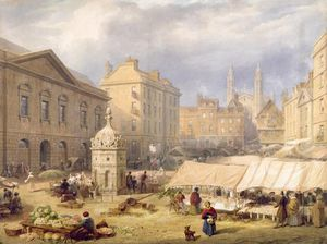 Frederick Mackenzie - Cambridge Market Place