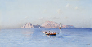 Friedrich Nerly - controllare Capri Of il nord Side