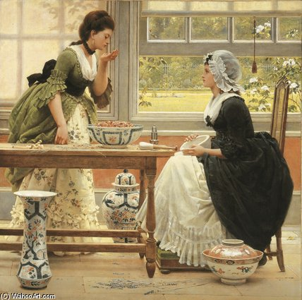 Pot-pourri di George Dunlop Leslie (1835-1921, United Kingdom)