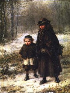 George Henry Boughton - un inverno Morning's Passeggiata