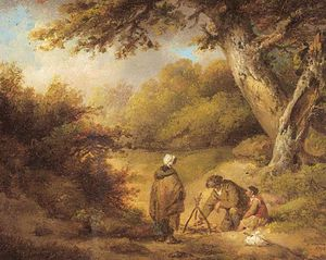 George Morland - A Gipsy Accampamento