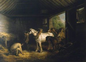 George Morland - Dentro di  Un  stabile