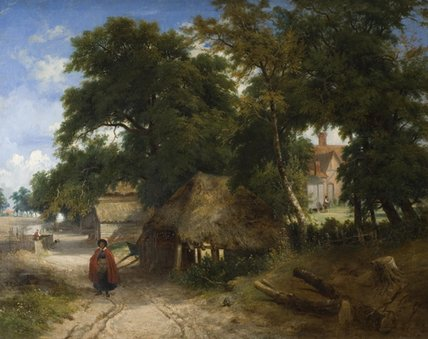 Un Farmstead inglese di George Vincent (1796-1831, United Kingdom)