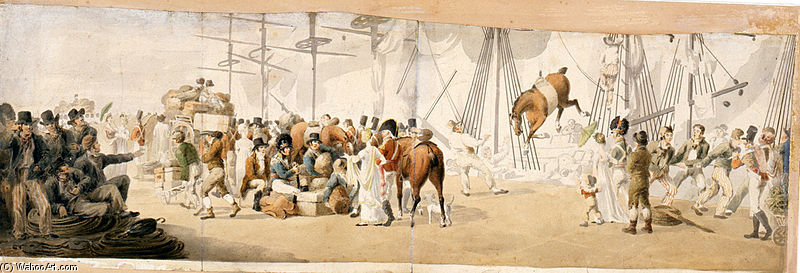 Imbarco Truppe in margate di John Augustus Atkinson (1775-1833, United Kingdom)