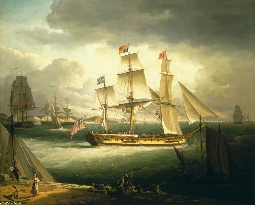 La Royal Sovereign , Yacht di John Thomas Serres (1759-1825, United Kingdom)