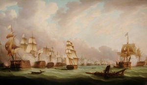 Thomas Buttersworth - La battaglia di Trafalgar