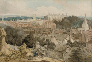 William Alfred Delamotte - una vista di King's Università Cappella , Cambridge