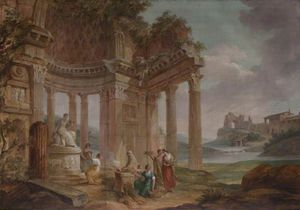 William Hamilton - rovine classiche -