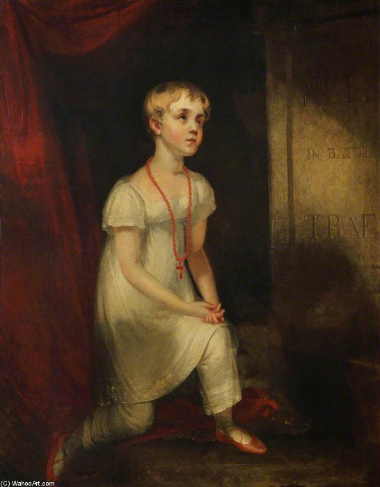 horatia nelson In ginocchio Prima Lei Father's Tomba di William Owen (1769-1825, United Kingdom) | WahooArt.com
