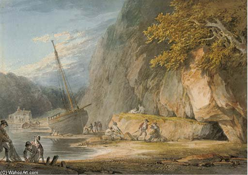 Combe Balestruccio , Devon di William Payne (1760-1830, United Kingdom)