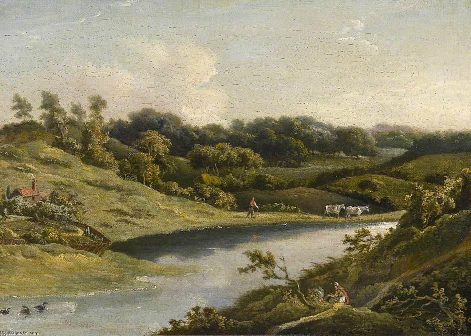 Fiume nel devon di William Payne (1760-1830, United Kingdom)