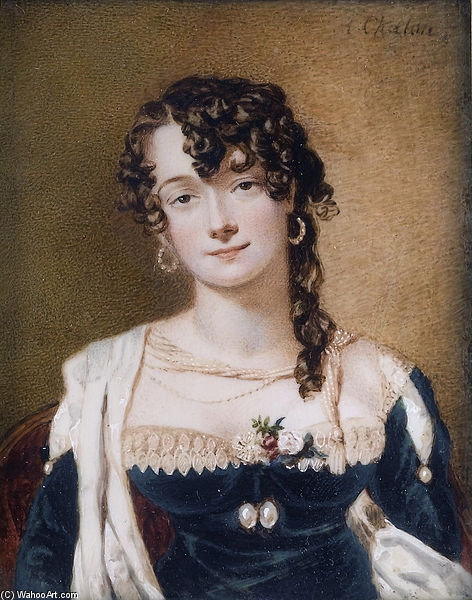 Frances Stuart, viscontessa Sandon di Alfred Edward Chalon (1780-1860, Switzerland) | Riproduzione Art | WahooArt.com