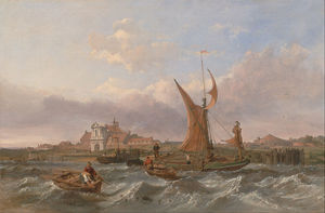 Clarkson Frederick Stanfield - Tilbury Fort - vento Against The Tide